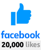 Over 20000 Likes on Facebook